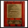 placa en bronce brillante
